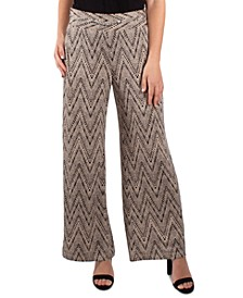 Chain-Trim Wide-Leg Pants