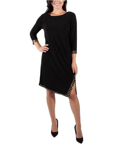 NY Collection Side Slit Embellished Dress