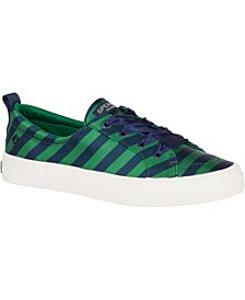 Women's Crest Vibe Varsity Stripe Satin Sneakers