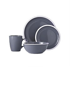 Jay Imports Hadleigh-Grey Flannel 16 Pc Dinnerware Set