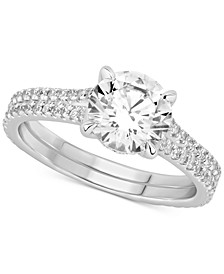 GIA Certified Diamond Engagement Ring (2 ct. t.w.) in 14k White Gold