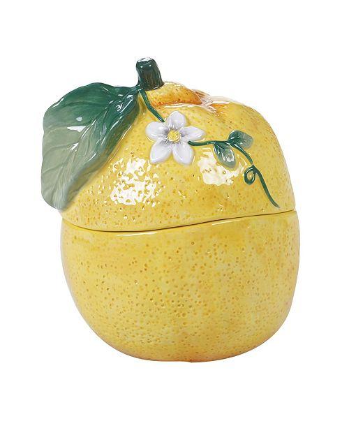 Certified International Citron 3-D Lemon Covered Bowl