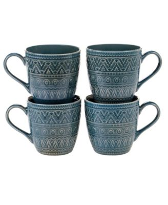 Aztec Teal 4-Pc. Mugs