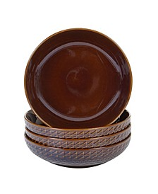 Aztec Brown 4-Pc. Soup Bowls