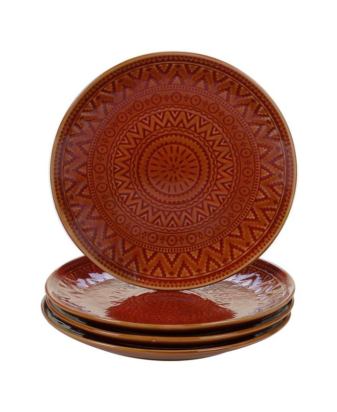 Certified International Aztec Rust 4-Pc. Salad Plates