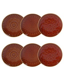 Aztec Rust 6-Pc. Canape Plates