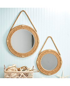 On the Ropes Rope Wall Mirrors  - Set of 2