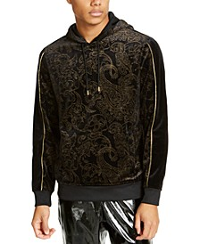 INC Men's Gold Paisley Hoodie, Created for Macy's