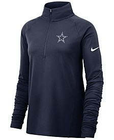 Women's Dallas Cowboys Pro Half-Zip Element Pullover