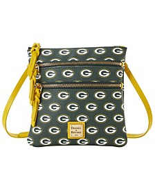 Green Bay Packers Saffiano Triple Zip Crossbody