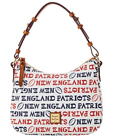 New England Patriots Doodle Small Kiley Hobo