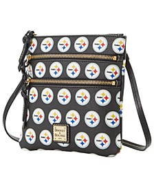 Pittsburgh Steelers Saffiano Triple Zip Crossbody