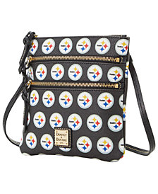 Dooney & Bourke Pittsburgh Steelers Saffiano Triple Zip Crossbody