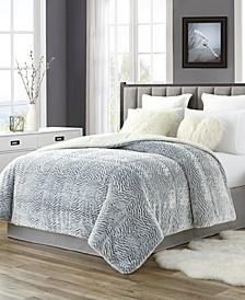 Tahari Faux Fur and Sherpa Reversible Comforter - Full/Queen
