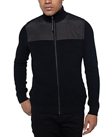 Men's Zip Mock Neck Sweater