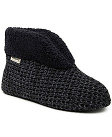 Women's Textured Knit Bootie Slipper, Online Only