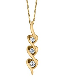 Diamond (1/8 ct. t.w.) Heart Pendant in 14k White, Yellow or Rose Gold