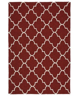 Escape ESC09-25 Red 2' x 3' Area Rug