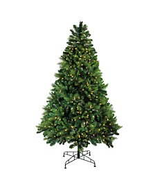 7.5' Pre-Lit Sequoia Mixed Pine Artificial Christmas Tree - Warm White LED Lights