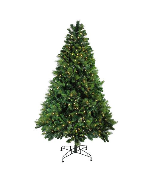 Northlight 7.5' Pre-Lit Sequoia Mixed Pine Artificial Christmas Tree - Warm White LED Lights