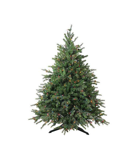 Northlight 4.5' Pre-Lit Hunter Fir Full Artificial Christmas Tree - Multi Lights