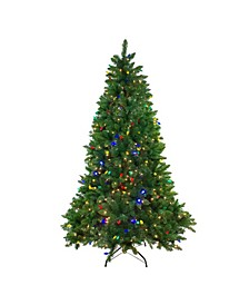 7.5' Pre-Lit Huron Pine Artificial Christmas Tree - Dual Lights