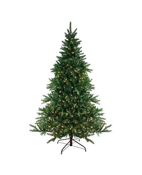 Northlight 12' Pre-Lit LED Instant Connect Noble Fir Artificial Christmas Tree - Dual Lights