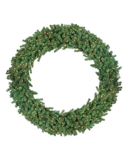 Northlight Deluxe Windsor Pine Artificial Christmas Wreath - 72-Inch Clear Lights