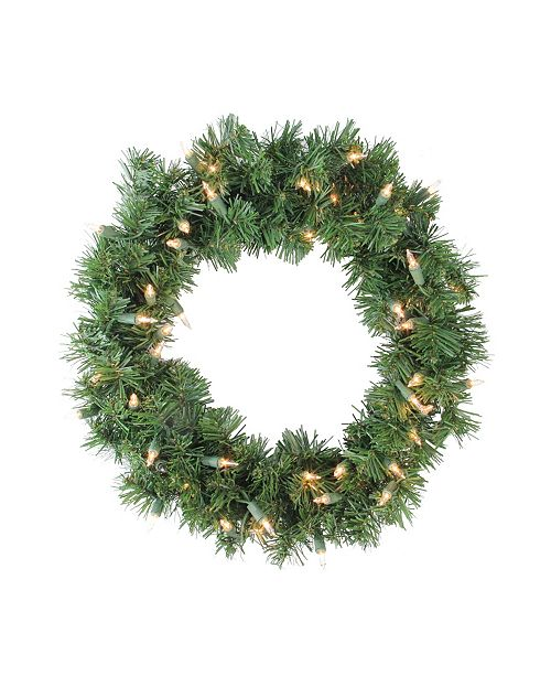 Northlight Deluxe Windsor Pine Artificial Christmas Wreath - 18-inch Clear Lights