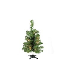 """18"""" Pre-Lit Traditional Noble Fir Medium Artificial Christmas Tree - Clear Lights"""