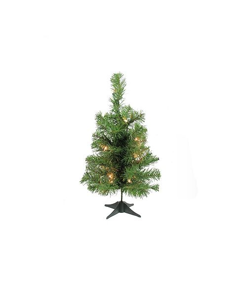 """Northlight 18"""" Pre-Lit Traditional Noble Fir Medium Artificial Christmas Tree - Clear Lights"""