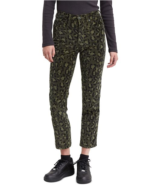 Levi's Women's Limited 724 Printed Cropped Straight-Leg Jeans