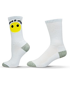 Unisex Smiley Face Emoji Crew Socks
