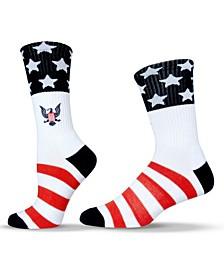 Unisex Eagle Emblem Patriotic Crew Socks