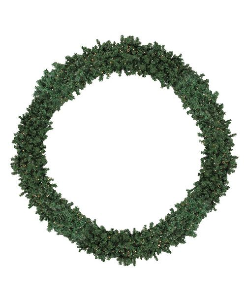 Northlight 10' Pre-Lit High Sierra Pine Commercial Artificial Christmas Wreath - Clear Lights