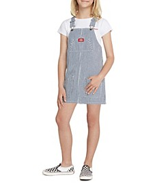 Big Girls Overall Hickory Striped Dress