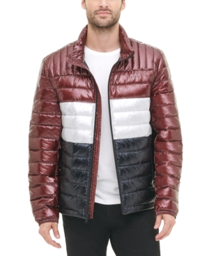 Dkny Jackets MEN'S QUILTED PEARLIZED NYLON CLASSIC PACKABLE JACKET, CREATED FOR MACY'S