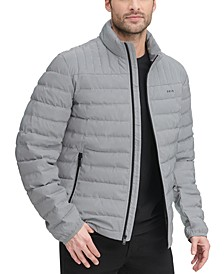 Men's Quilted Pearlized Nylon Classic Packable Jacket, Created For Macy's