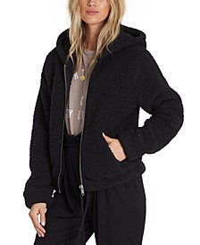 Juniors' Hooded Fleece Jacket