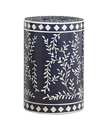 Blue Round Accent Table, Quick Ship