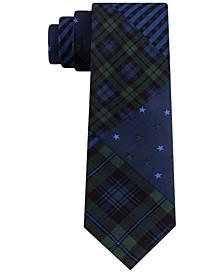 Men's Large Multi Star Plaid Tie