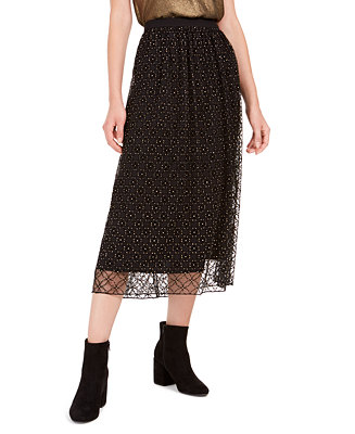 Lace Overlay Midi Skirt, Created For Macy's by General