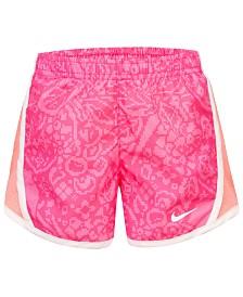 Nike Little Girls Printed Dri-FIT Tempo Shorts