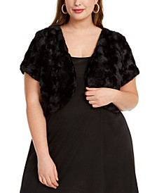 Trendy Plus Size Faux-Fur Shrug