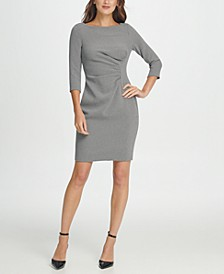 Knit Side Ruche Sheath Dress