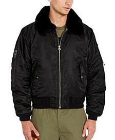 Men's Fleece Collar Bomber Jacket