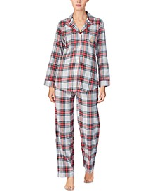 Women's Brushed Twill Pajama Set