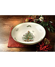 "Christmas Tree 12"" Pasta Serving Bowl"
