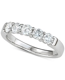 Diamond Five-Stone Band (1 ct. t.w.) in 14k White Gold
