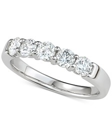 Diamond Five-Stone Band (1 ct. t.w.) in 14k White Gold